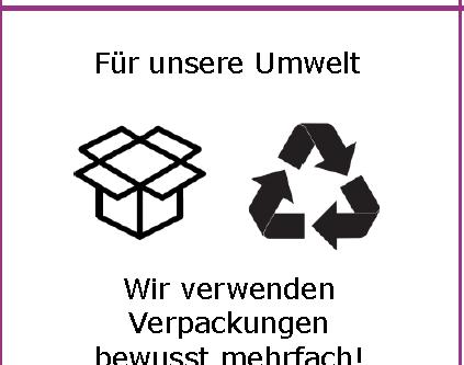 Unser Beitrag gegen Verpackungsmüll!