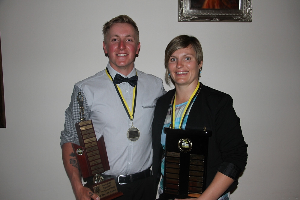 Above - Mens B & F Chris Turpin and Womens B & F Nicole Richards