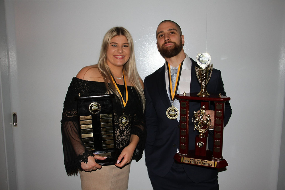 Emily Hewitt and Stephen Harbort were awarded the B & F for their respective teams