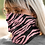 pink neck gaiter leftside view lifestyle view