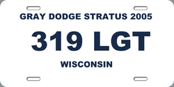319LGT License Plate Missing Person Alert