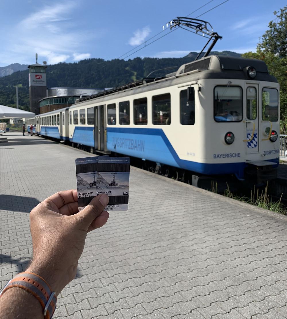 Zugspitzbahn Station in Garmisch Partenkirchen
