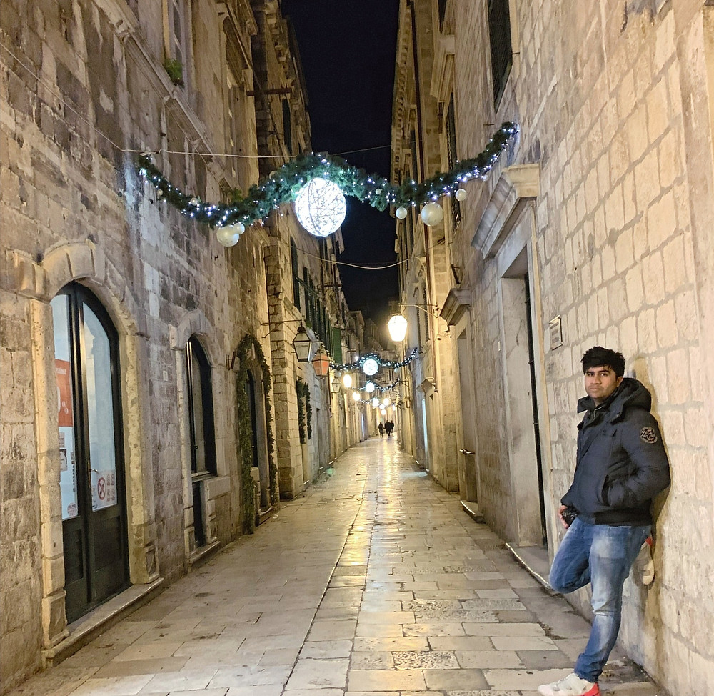 Christmas Eve in Old town, Dubrovnik