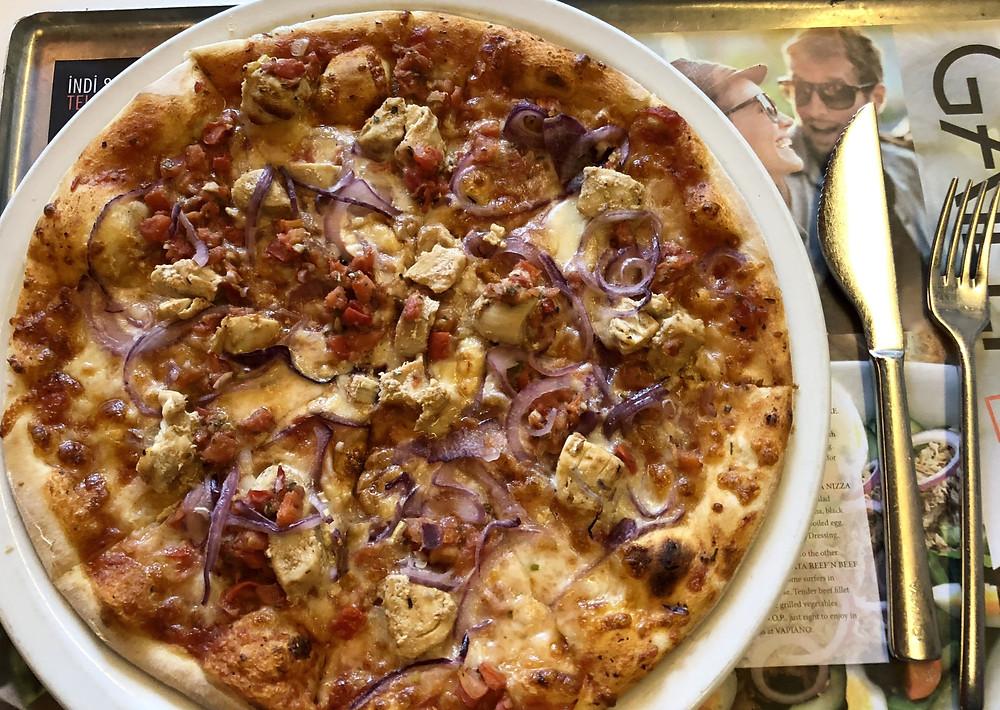 Pizza in Vapiano, Baku