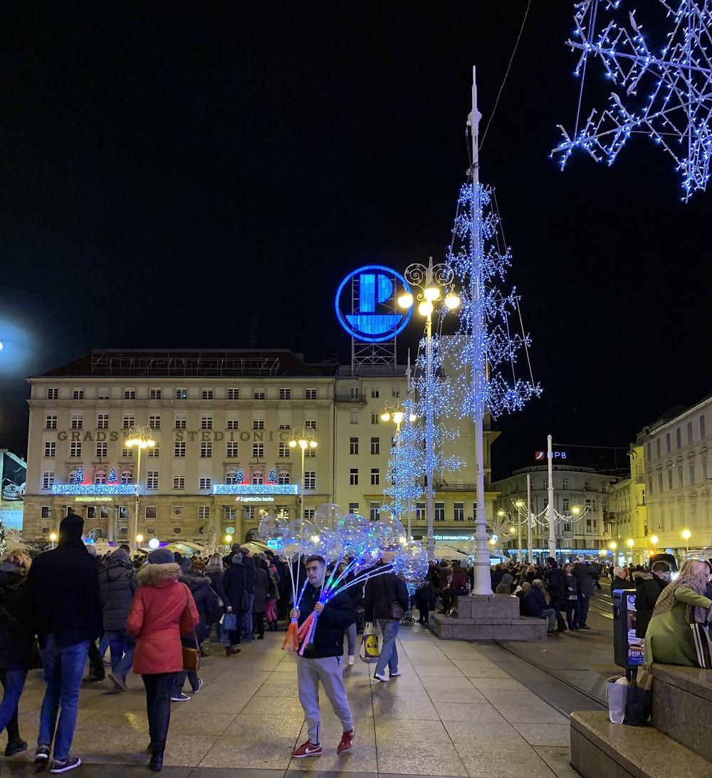 Bana Josipa Jelacic Square in Zagreb, Croatia