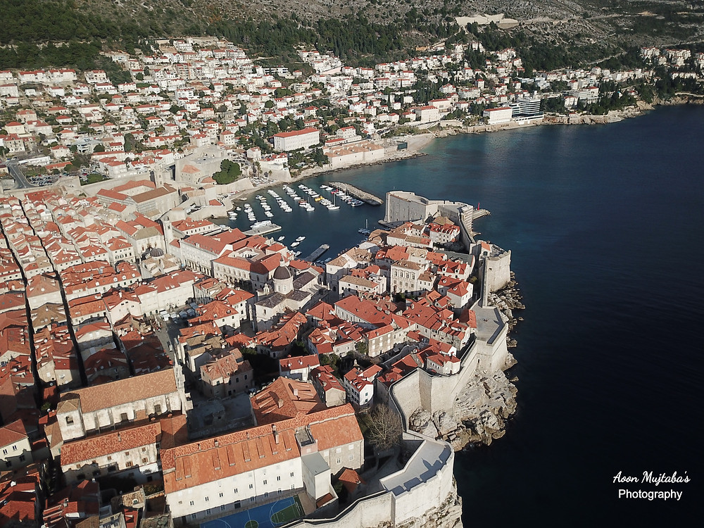 Bird Eye View of Dubrovnik, Old Town