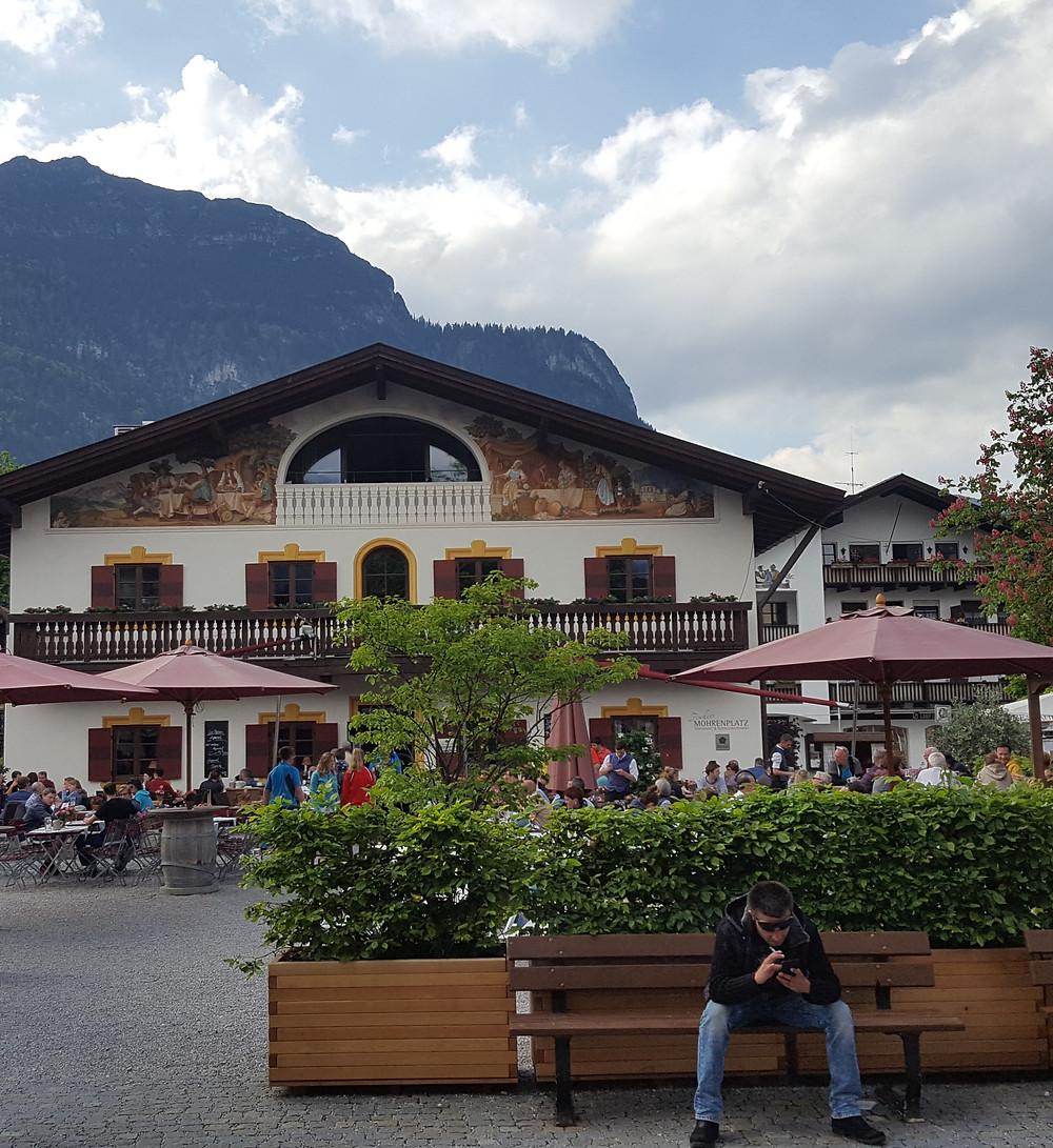 Mohrenplatz Garmisch Old town in Germany