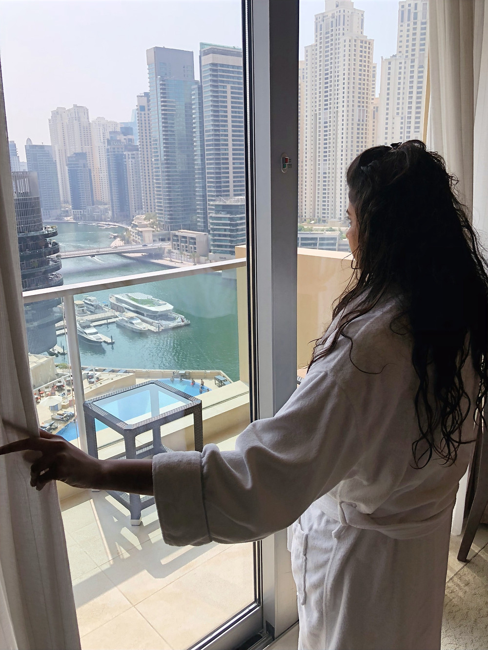 View of Dubai Marina from our room