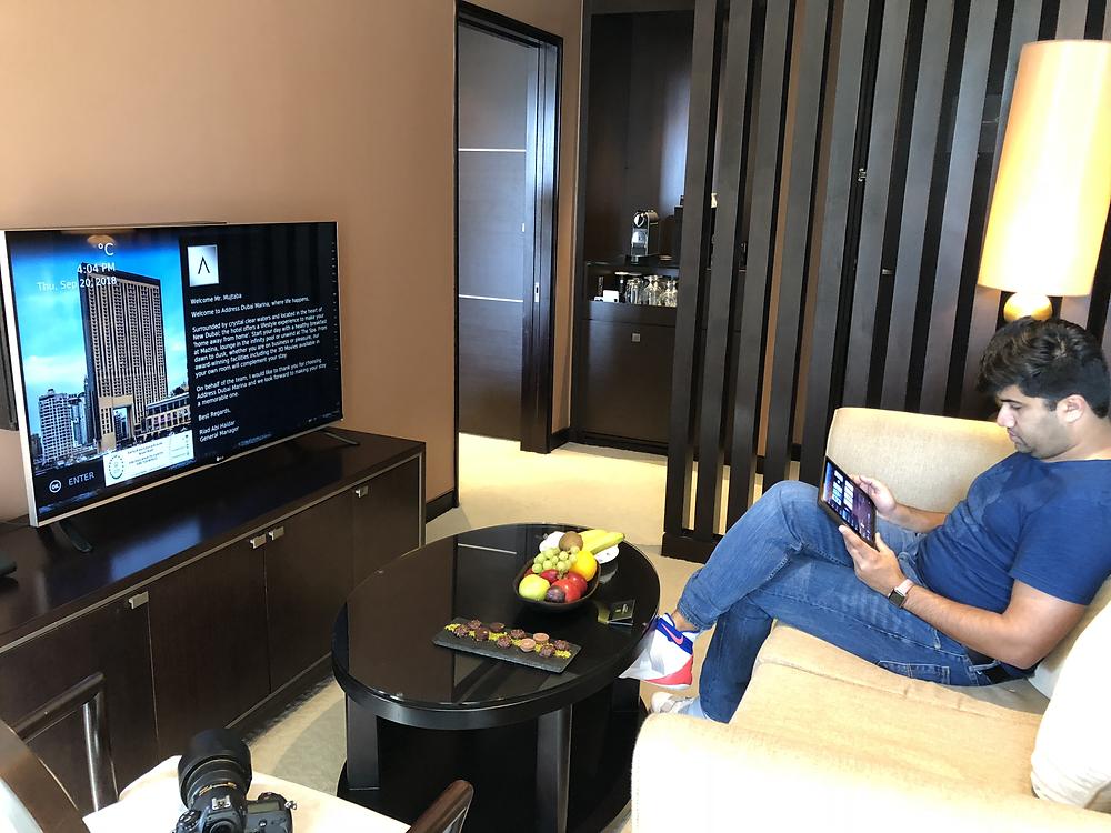 Our Living room in Address Marina Dubai