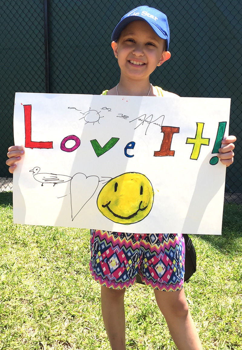 Gracie love it from LSF children's cancer program FL