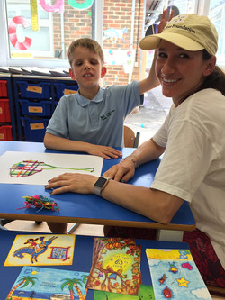 Little Star. Adriana teaching art to blind students at Little Star sponsored art therapy programs f