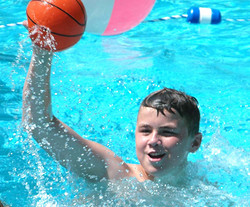 Little Star. with Pool time Children's Cancer Program. Cody