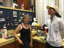 Peanuts Creator Charles Schulz widow & LSF Supporter, Jean Schulz talks art with Adriana