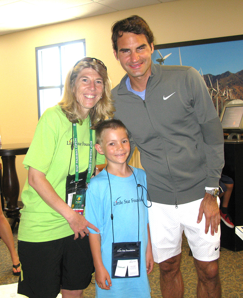 Roger Federer, AJ bring cheer, care & support to Little Star children's cancer programs