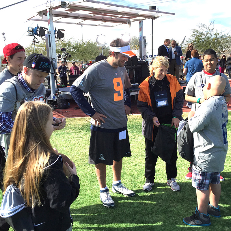Little Star Program with NFL Tony Romo Pro Bowl 2015JPG