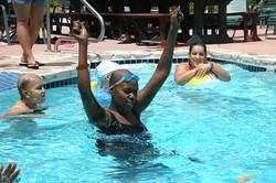Taking Little Star Programs to the pool Portia_swim