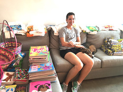 Juv Det Cent_Prison Program. Barkely & Adriana preparing supplies