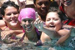 Little Star children's cancer Programs Megan_Anabel_Karlee_swim