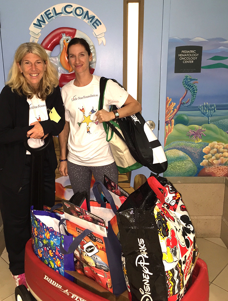 Andrea & Adriana arrive at another pediatric oncology dept to bring cheer, care and support