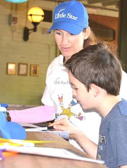 Little Star.. with Special Needs Art Program Adriana teaching art