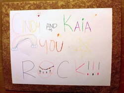 Cute poster board by kids with cancer