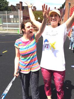 Little Star. Program for Disabled & Blind Children. Adriana sharing Victory