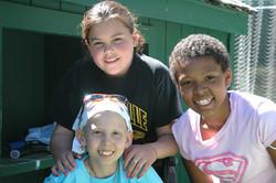 Bonding at Children's cancer fdtn Tori_Kalen_Liz. JPG