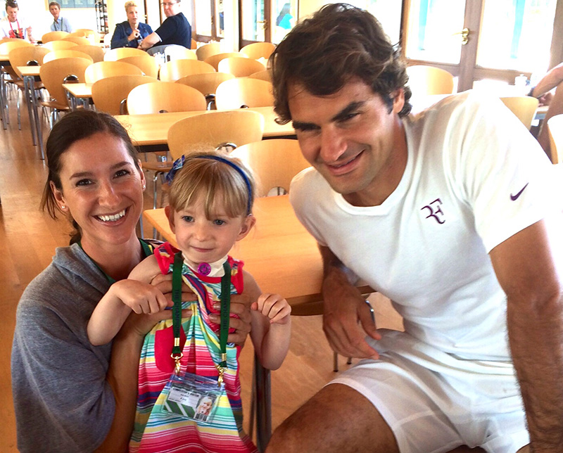 Little Star. Roger  Federer & Adriana Wimbledon Program to help brain damage patient