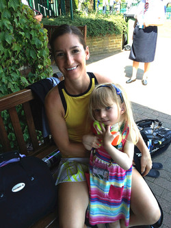 LSF at Wimbledon. Adriana with child with severe brain injury
