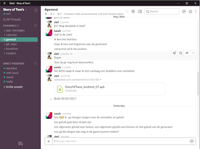 Using Slack in a very small team.