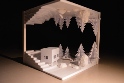 Scale model to illustrate the concept