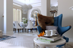 Вид на столовую с гостиной