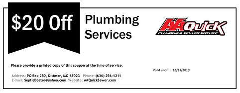 $20 Off Plumbing Services with AA Quick
