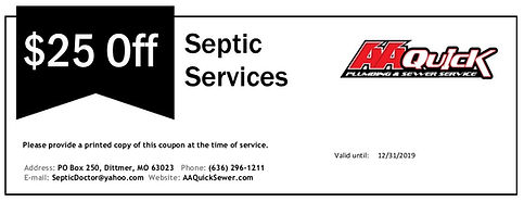 Coupon - $25 Off Septic