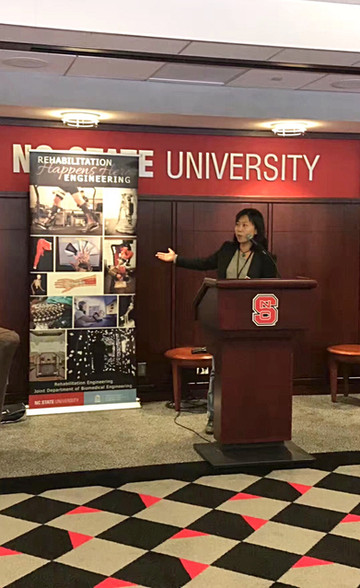 Dr. Huang Presented CLEAR at the Chancellor's Pregame Reception
