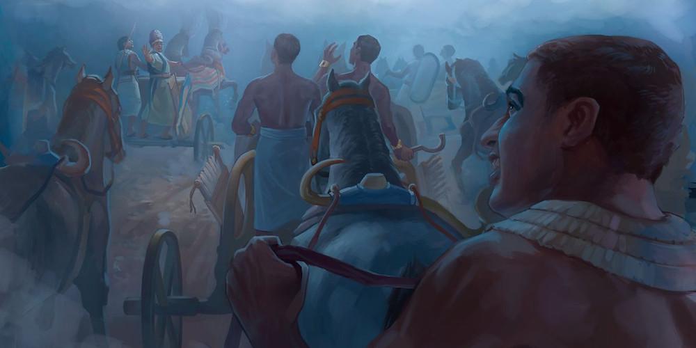 Exército do Egito contra os hebreus