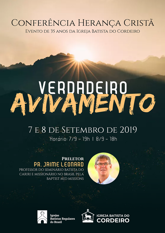 cartaz da Conferência Herança Cristã 2019