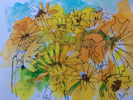 Magical Mystery Tour IV, the south of France in Watercolour