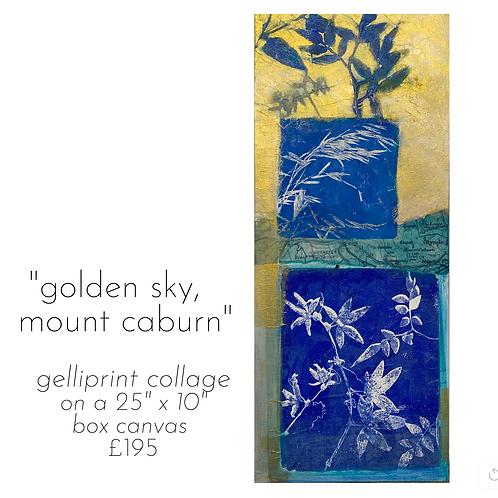 Golden Sky Over Mount Caburn