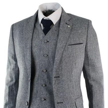 3 Piece Tweed London Style