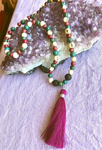 Sacred Circle Tassel Necklace