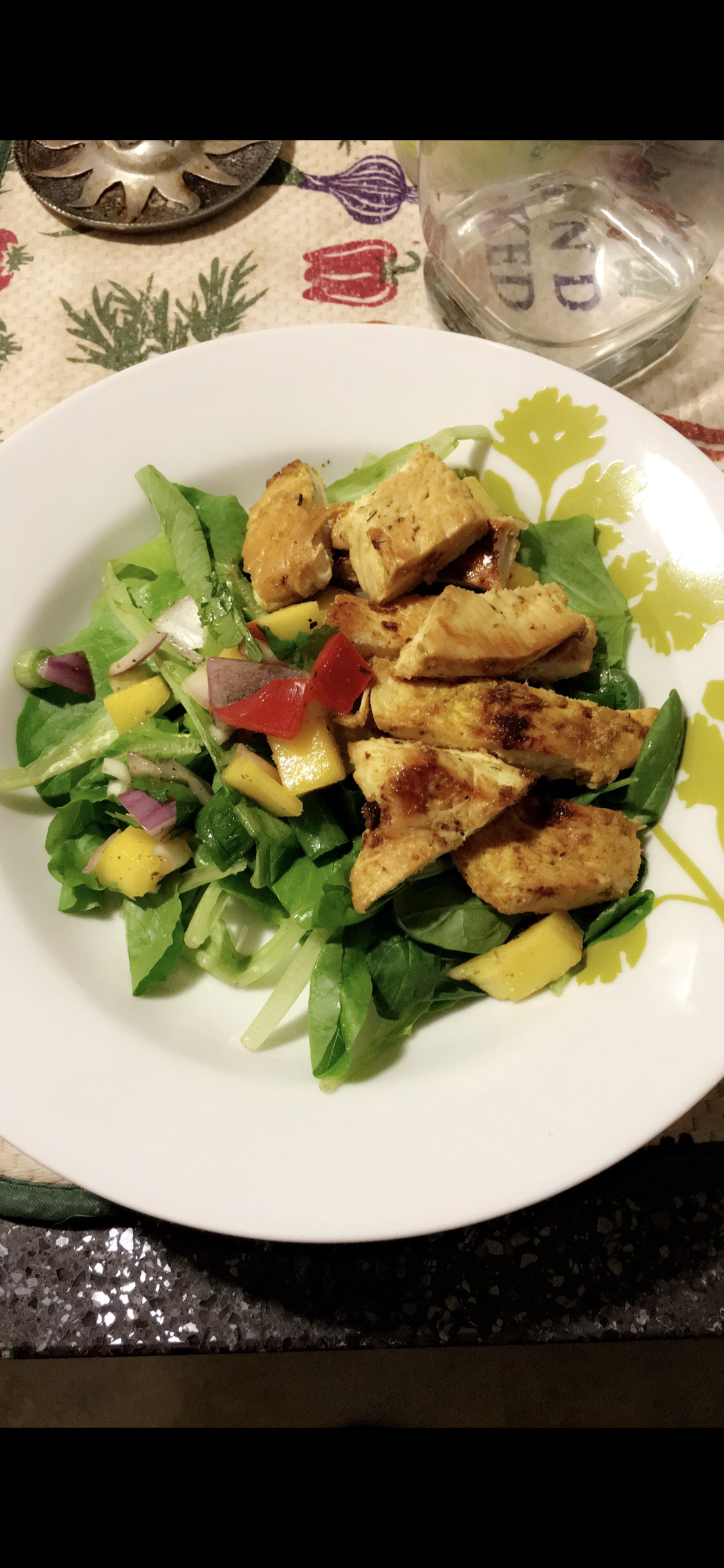 Chicken and Veggie Salad with Mango