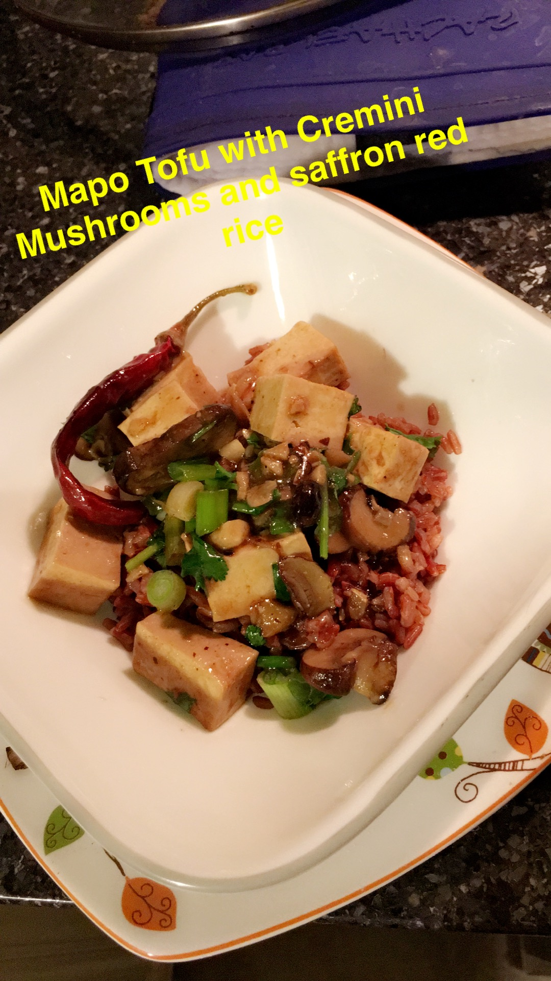 Delicious Tofu Meal