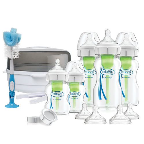 Набор Подарочный Deluxe с контейнером для стерилизации в СВЧ Dr Brown`s