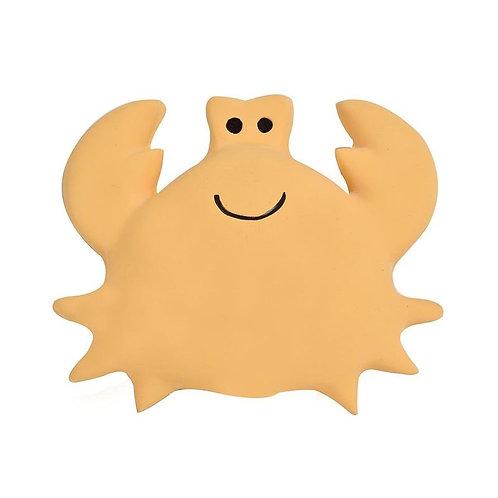 Игрушка прорезыватель/для ванны из каучука Краб в подарочной упаковке Tikiri