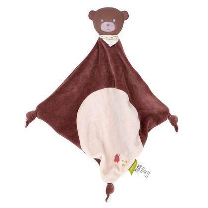 Игрушка-платочек с головой из натурального каучука Медведь Goodnight Wildwood