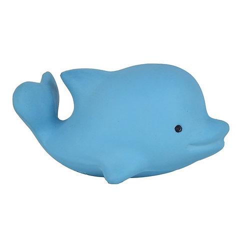 Игрушка прорезыватель/для ванны из каучука Дельфин в подарочной упаковке Tikiri