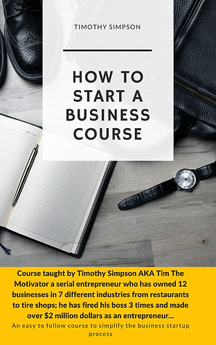HOW TO START A BUSINESS COURSE