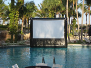 Outdoor Movie Poolside Dive In In