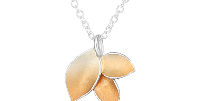 Autumnal Small 3 Leaf Pendant